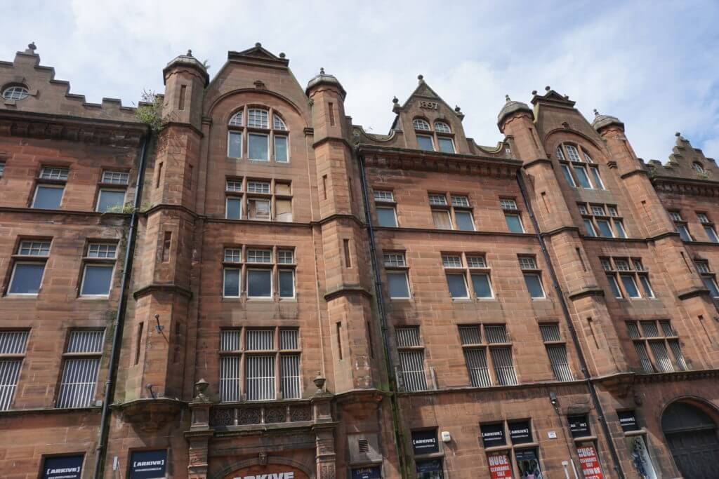 A brown sandstone building in Dundee, Scotland