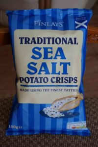 a bag of potato crisps