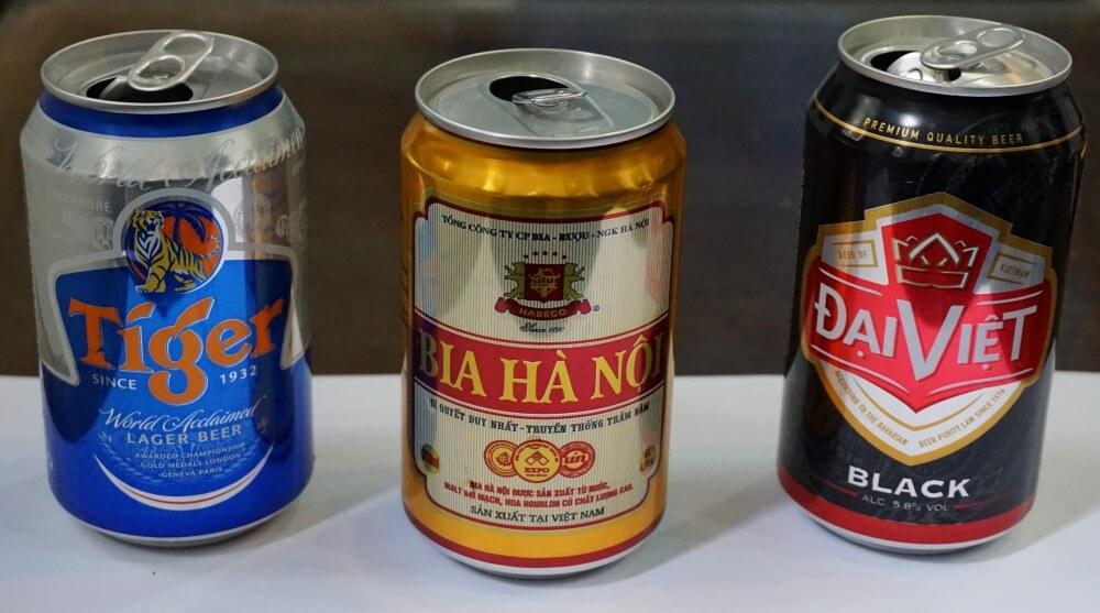 Here are our favorite Vietnamese canned beer varieties